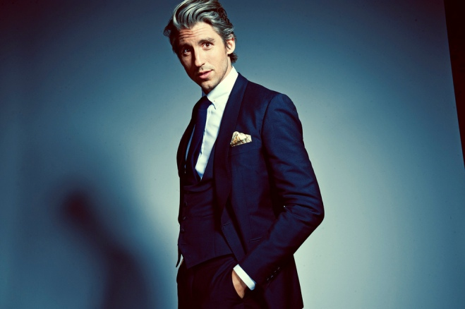George Lamb blue suit