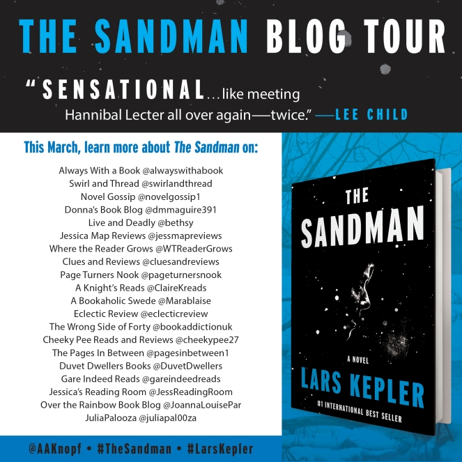 The Sandman blog tour graphic