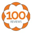 NetGalley 100 reviews badge