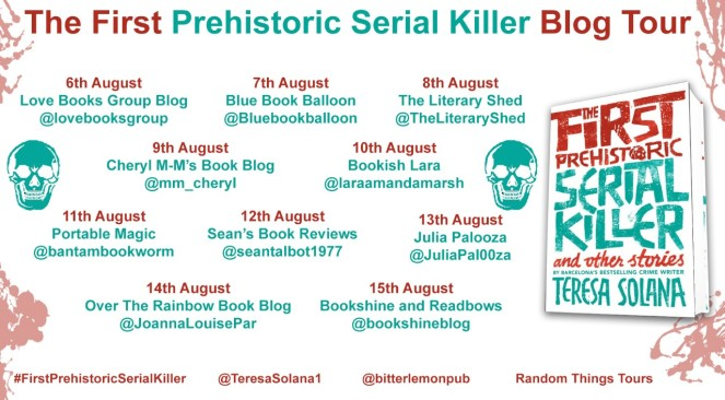 The First Prehistoric Serial Killer Blog Tour Poster