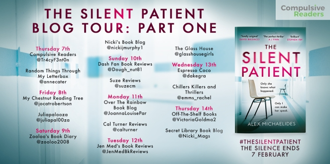 The Silent Patient Blog Tour Part 1