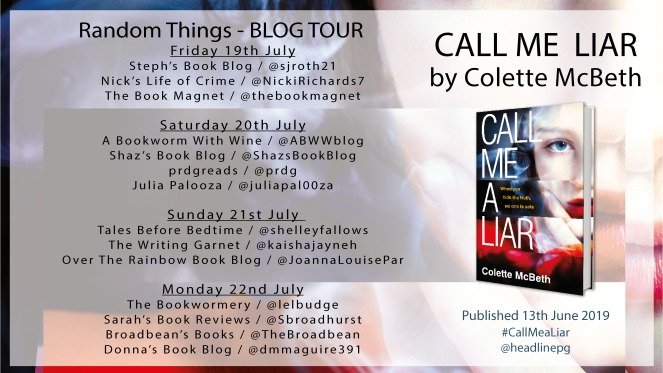 Blog Tour Poster - CALL ME A LIAR