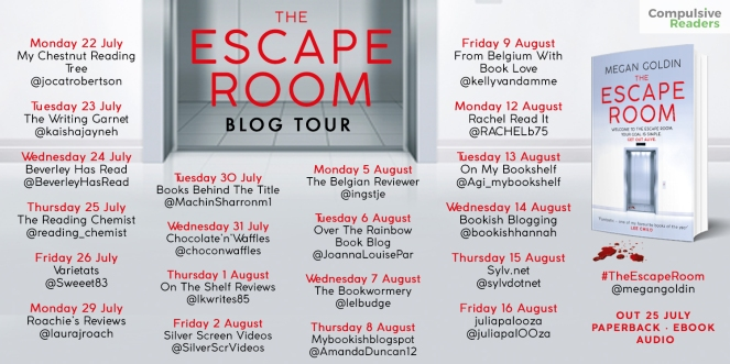 The Escape Room blog tour 16 August 2019